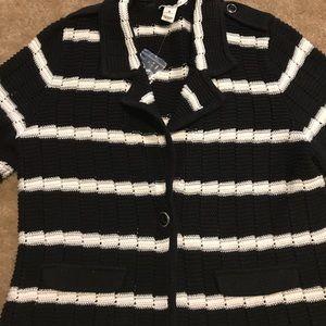 White House Black Market Sweater Blazer NWT XL